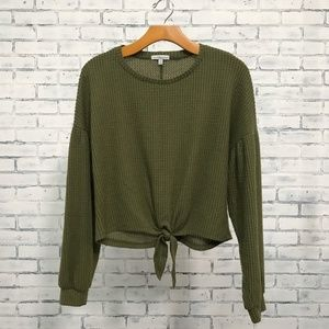 Green Long-sleeve Blouse